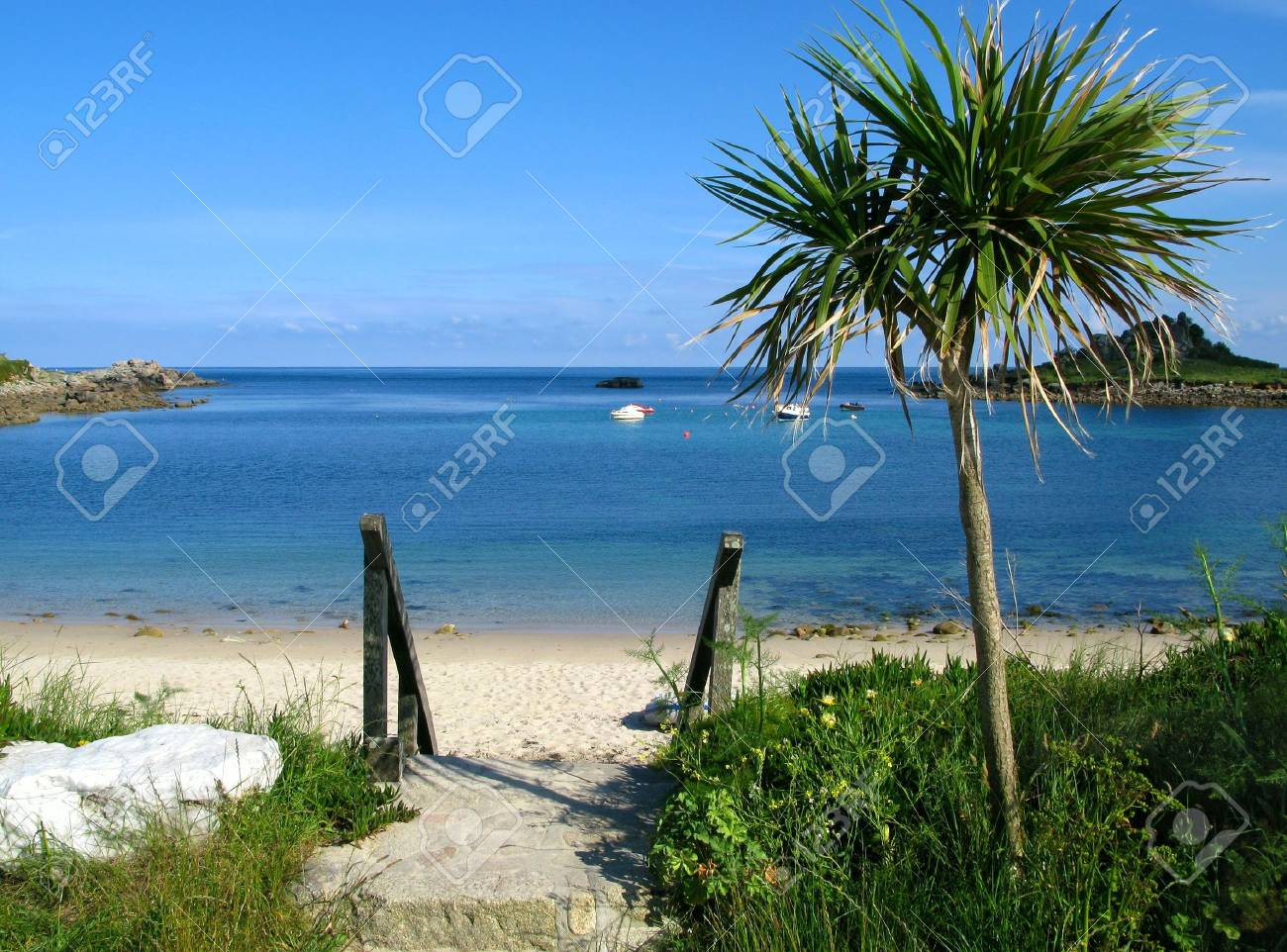 Old town beach in St. Mary's, Isles of Scilly. Stock Photo - 3425898