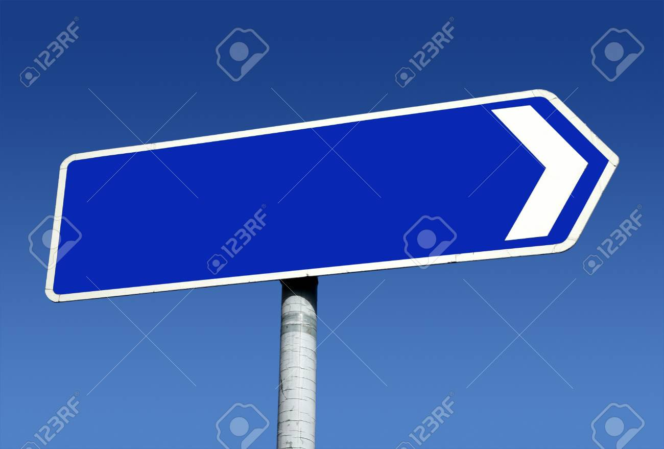 Right pointing old direction sign with space for text. Stock Photo - 4480843