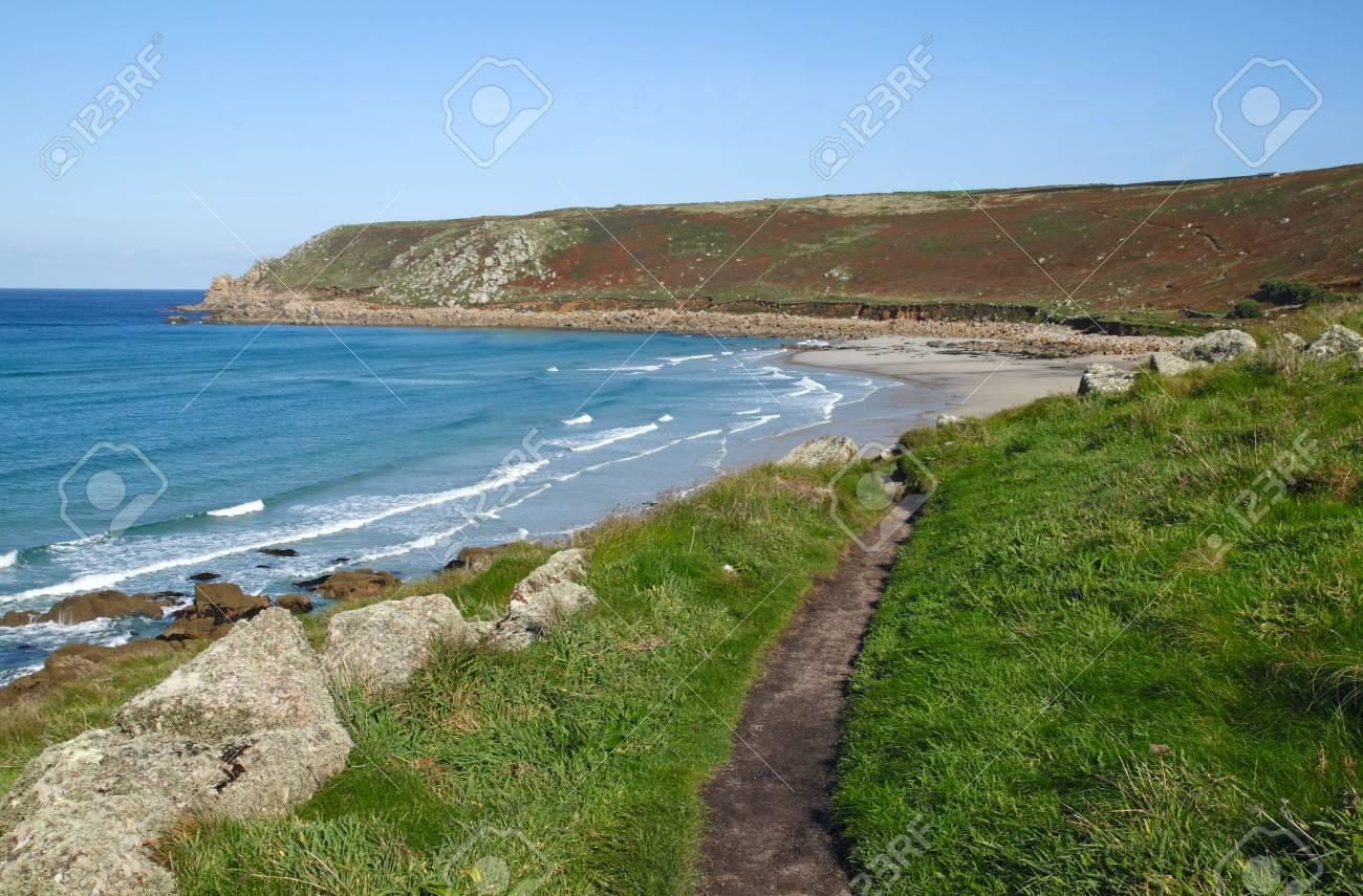 Cornwall coast path to Gwynver beach. Stock Photo - 5688600