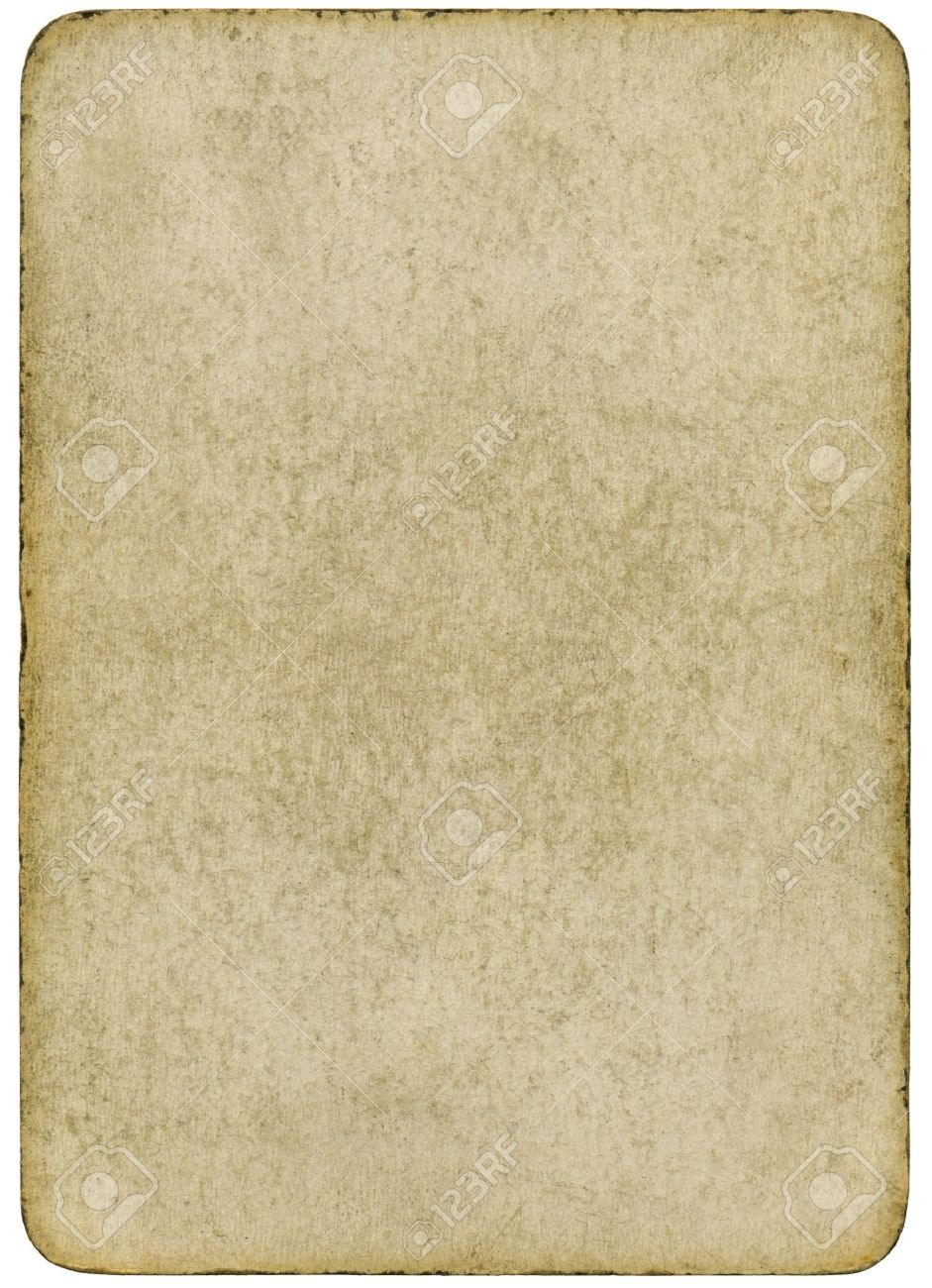 carte à jouer vierge Carte Jouer Vintage Et Vierge Isolée Sur Un Fond Blanc. Banque D