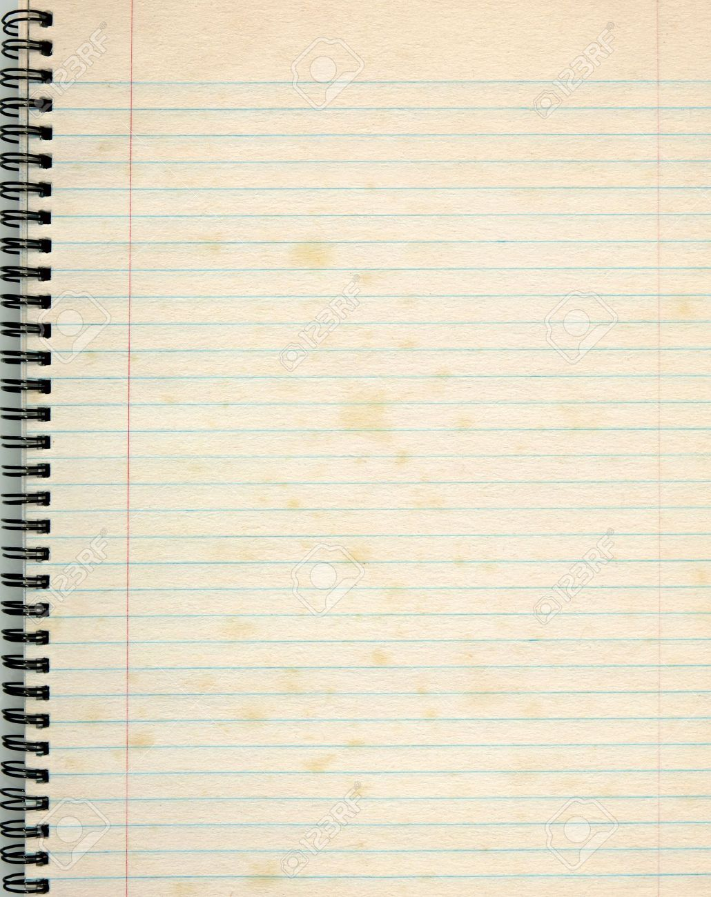 Old lined paper in a notepad. Stock Photo - 7415239