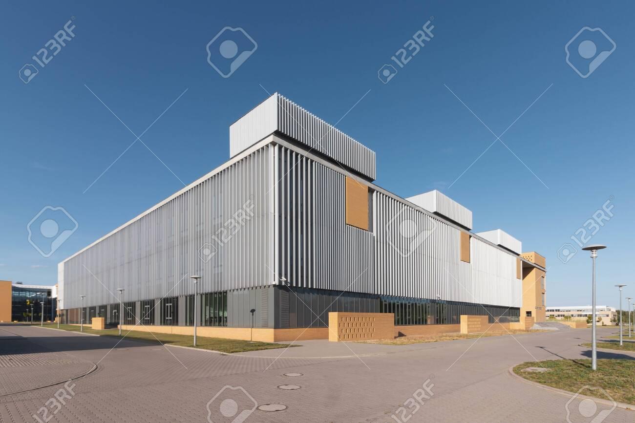 POZNAN, POLAND - Collegium Historicum of Adam Mickiewicz University at Morasko campus. - 128407070