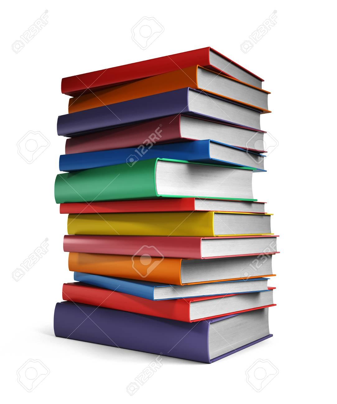 Pile of Books isolated on white background - 40973243