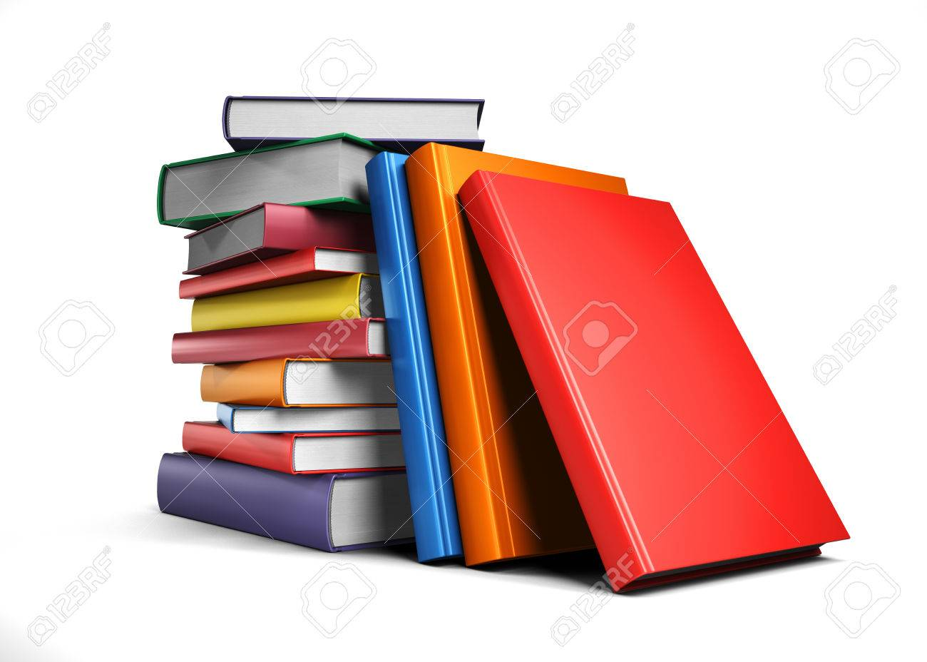 Pile of Books isolated on white background - 40973250