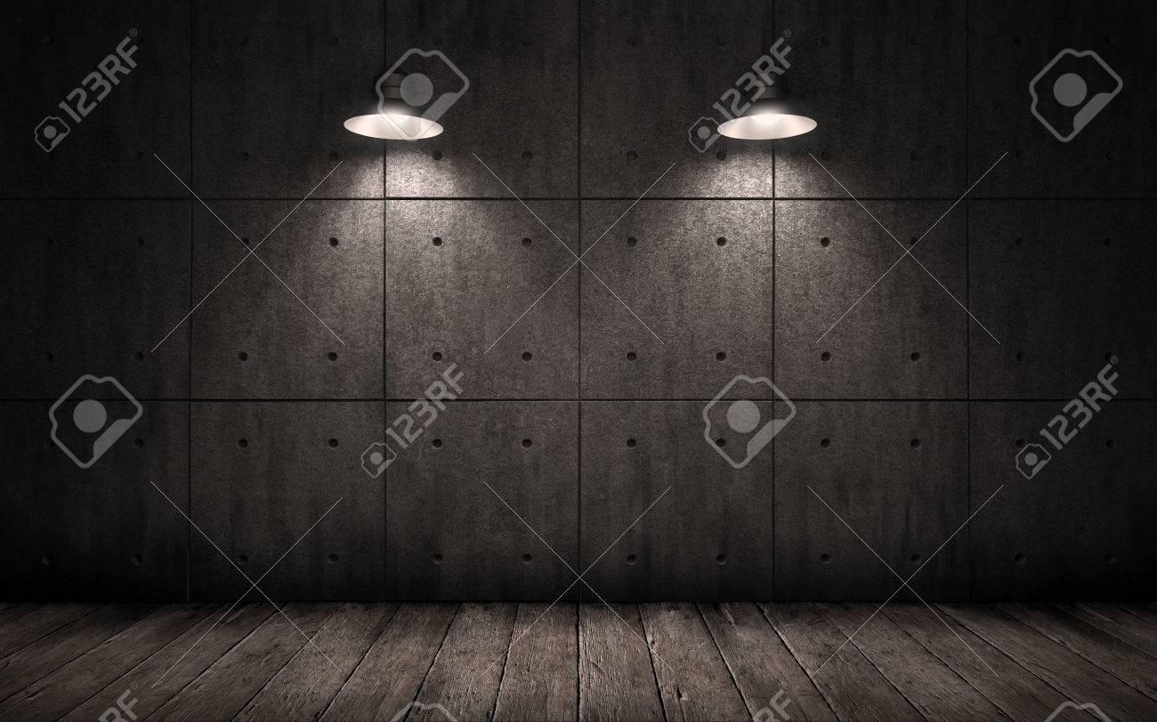 Grunge De Fondo Industrial Con Las Luces De Techo De Iluminación ...