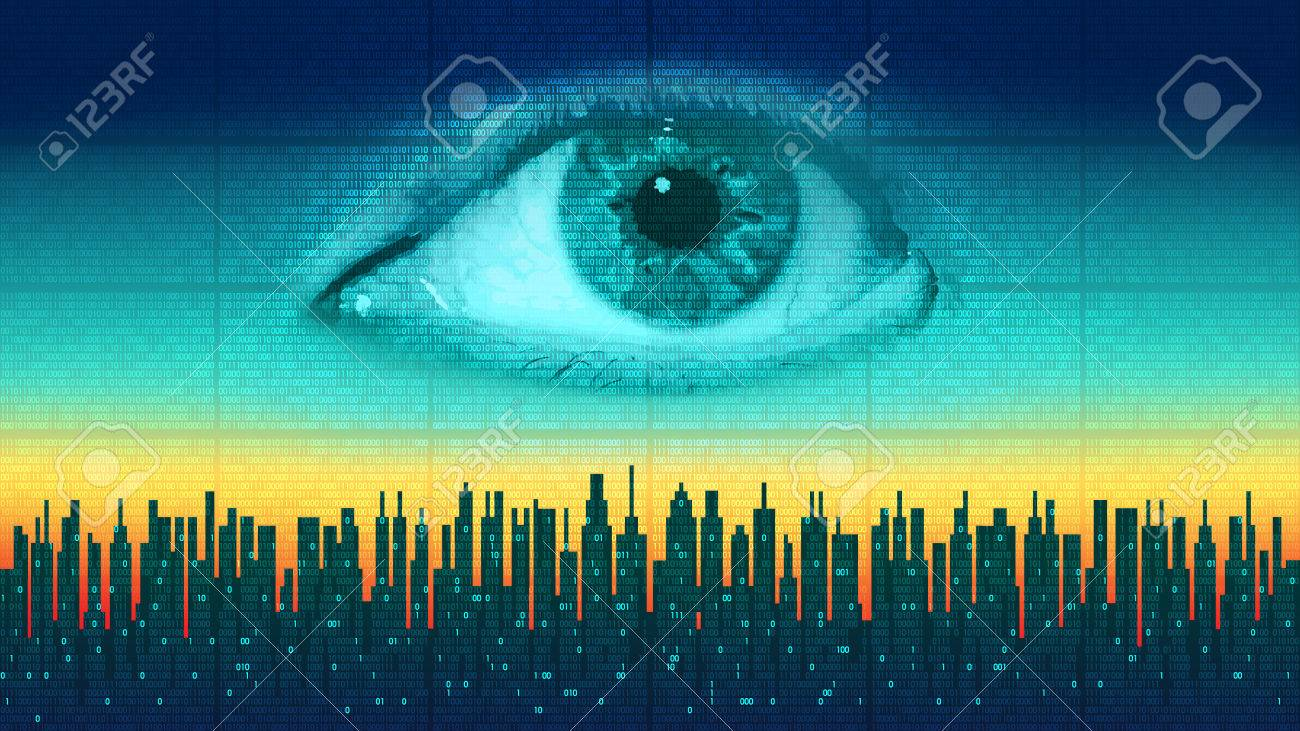 Futuristic Computer Digital Technology, Global Surveillance Stock Photo,  Picture And Royalty Free Image. Image 75629239.
