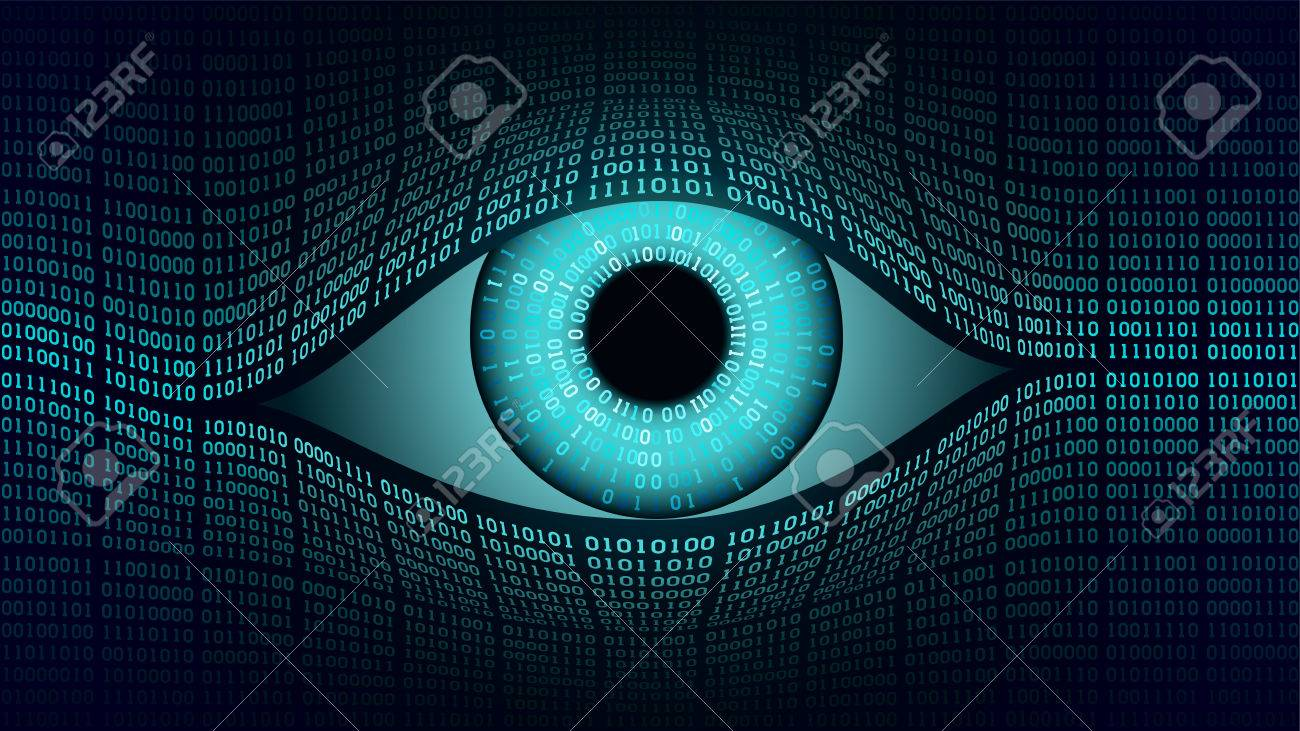 Big brother electronic eye concept, technologies for the global surveillance, security of computer systems and networks - 79146090
