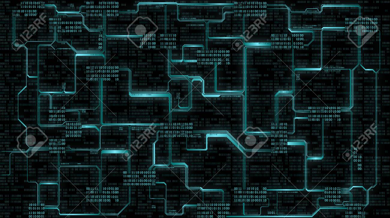 Royaltyfree Images Binary Code Circuit Board Wiring Diagrams Abstract With Illustration Stock Photo Futuristic Electronic Rh 123rf Com