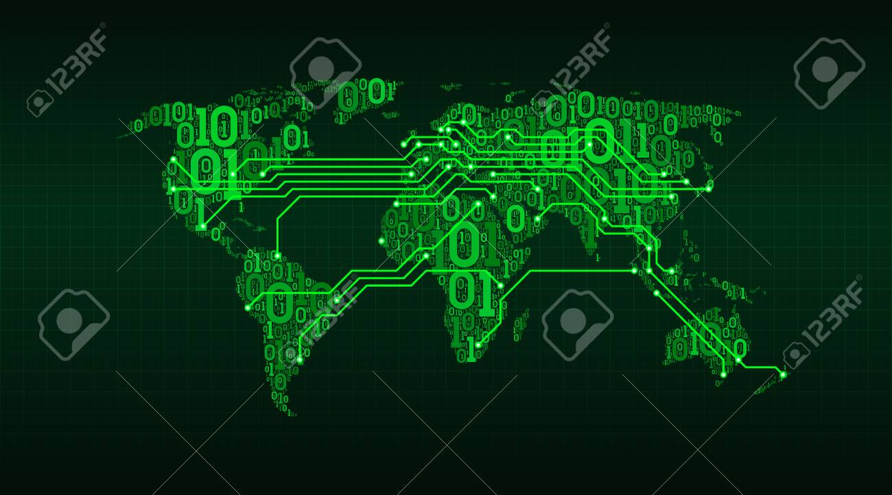 Abstract world map from a digital binary code royalty free cliparts abstract world map from a digital binary code stock vector 97100947 gumiabroncs Gallery