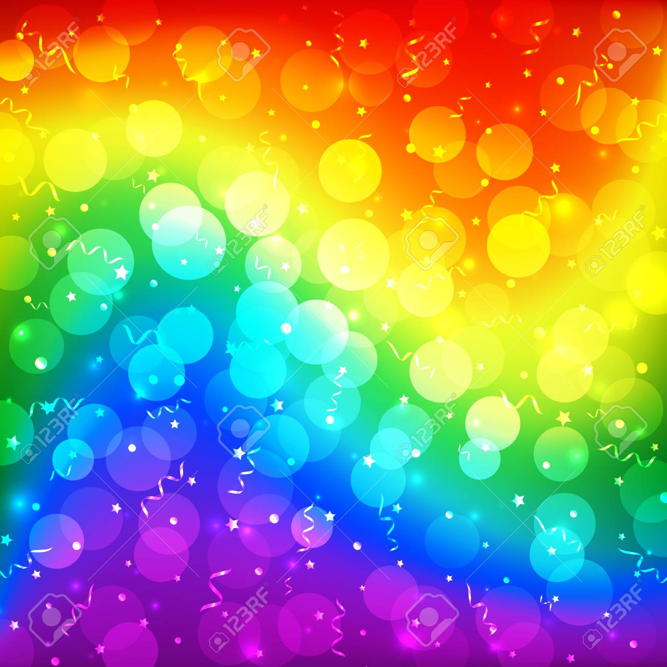 Lgbt Color Blur Bokeh Festive Background Rainbow Colorful Abstract