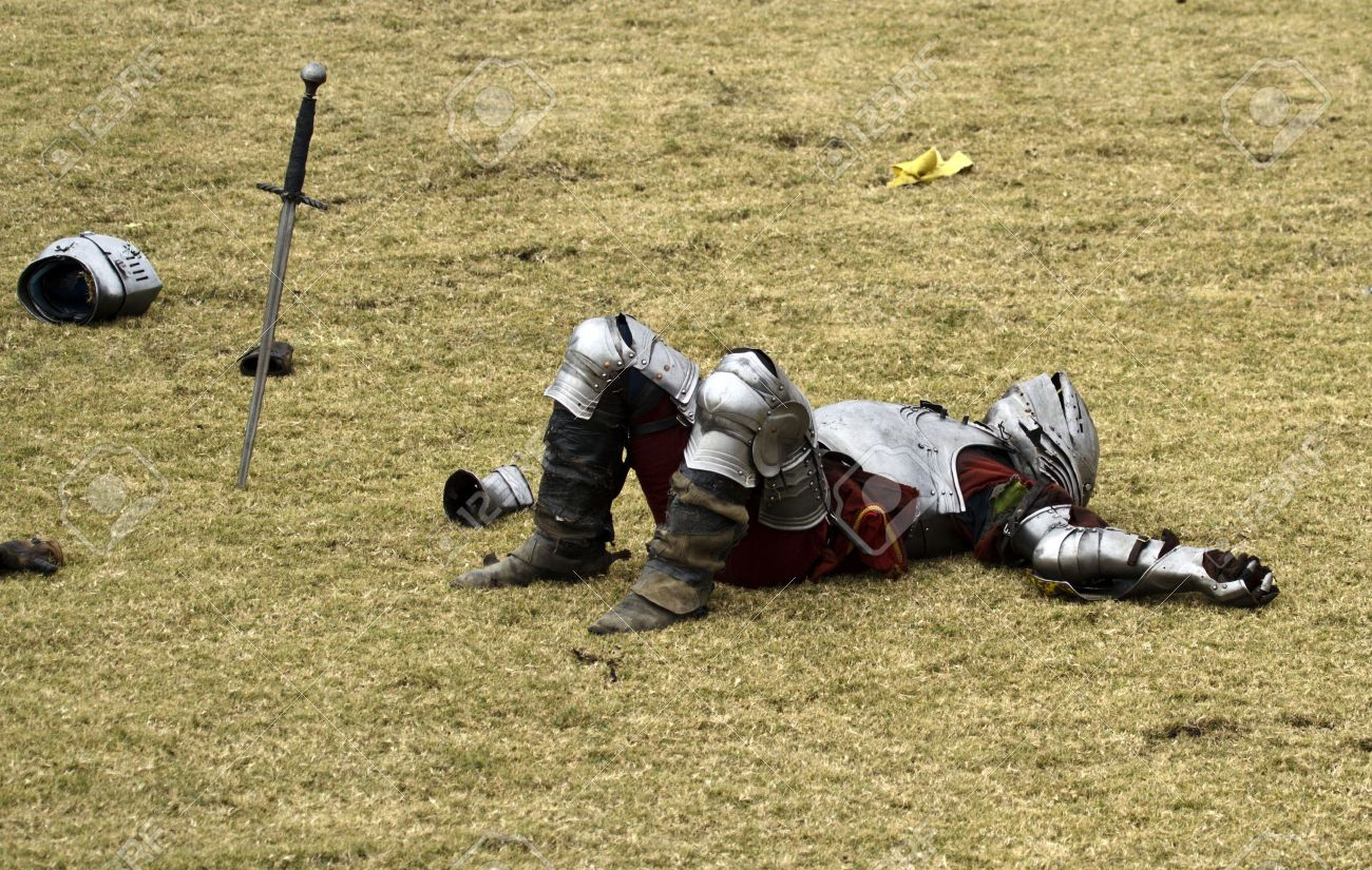 6354009-Defeated-knight-lays-immobilized