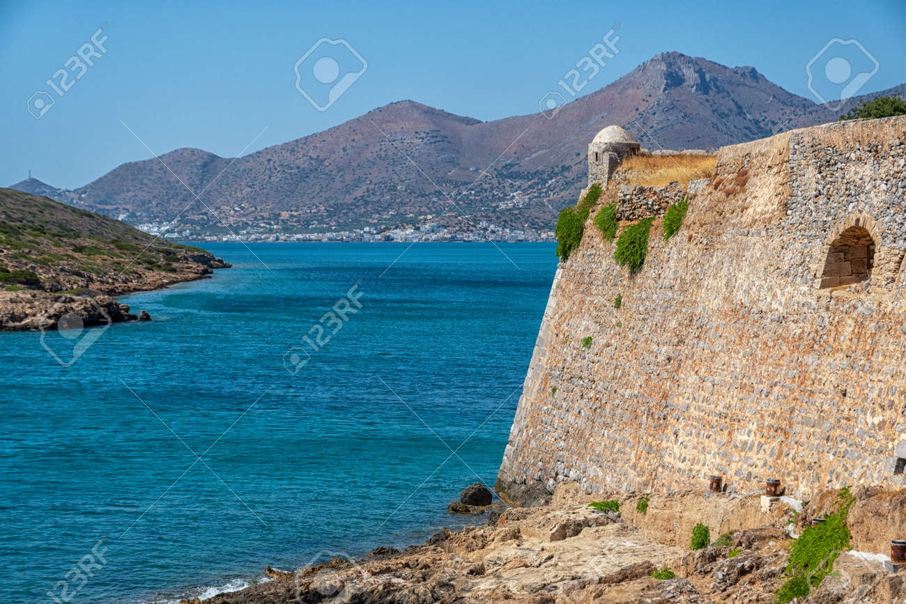 The fortress and leper colony of Spinalonga on Crete in Greece - 171722244