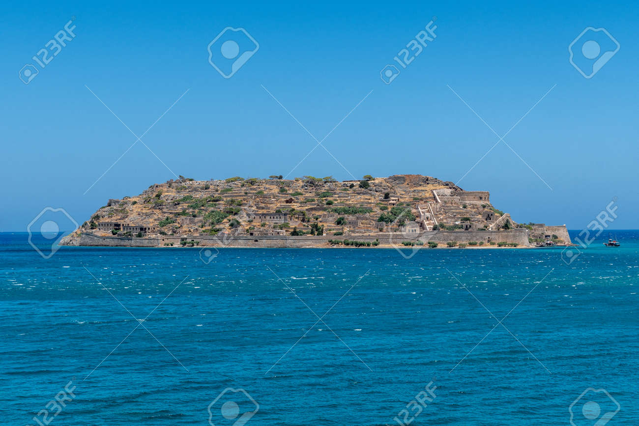 The fortress and leper colony of Spinalonga on Crete in Greece - 171718640