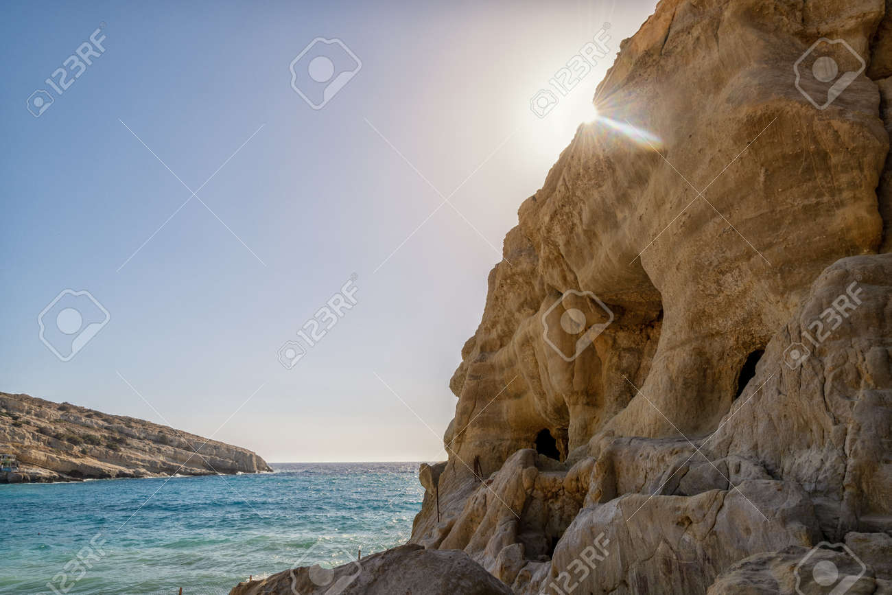 The Matala Caves on the Greek island of Crete - 171693361