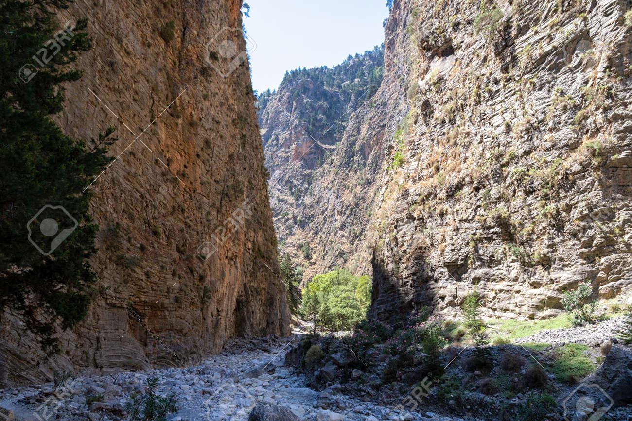 The Samaria Gorge on the Greek island of Crete - 171697996