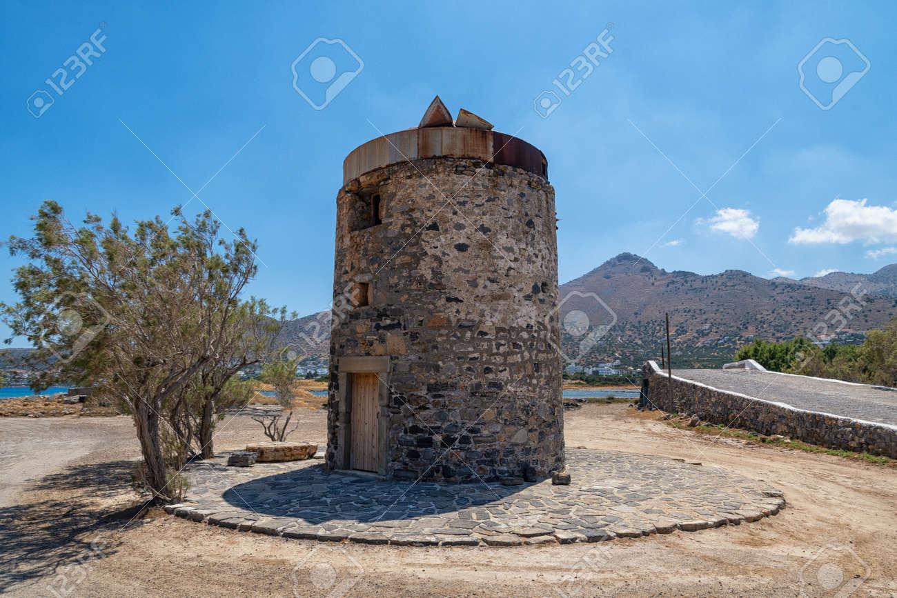 Historic windmill on the Greek island - 171854988