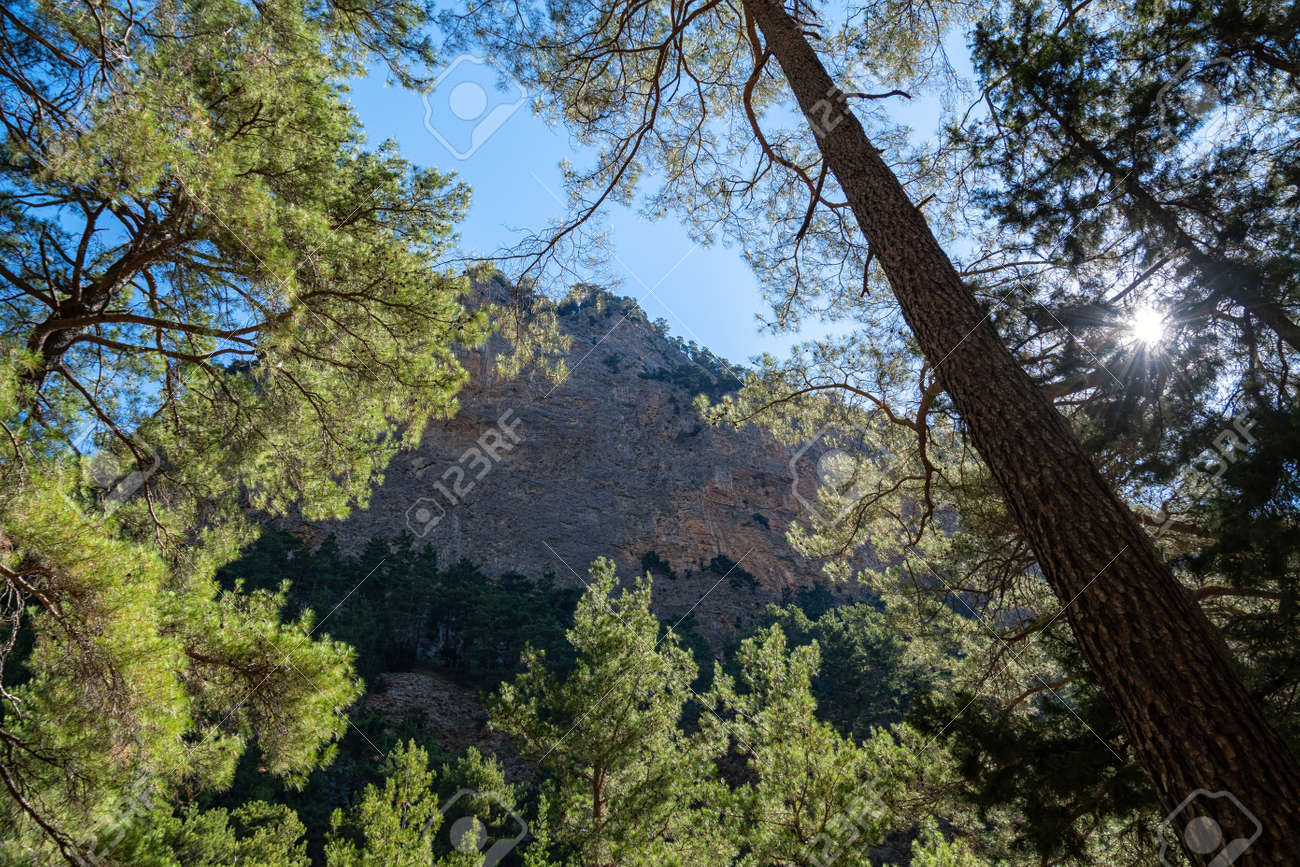 The Samaria Gorge on the Greek island - 171854765