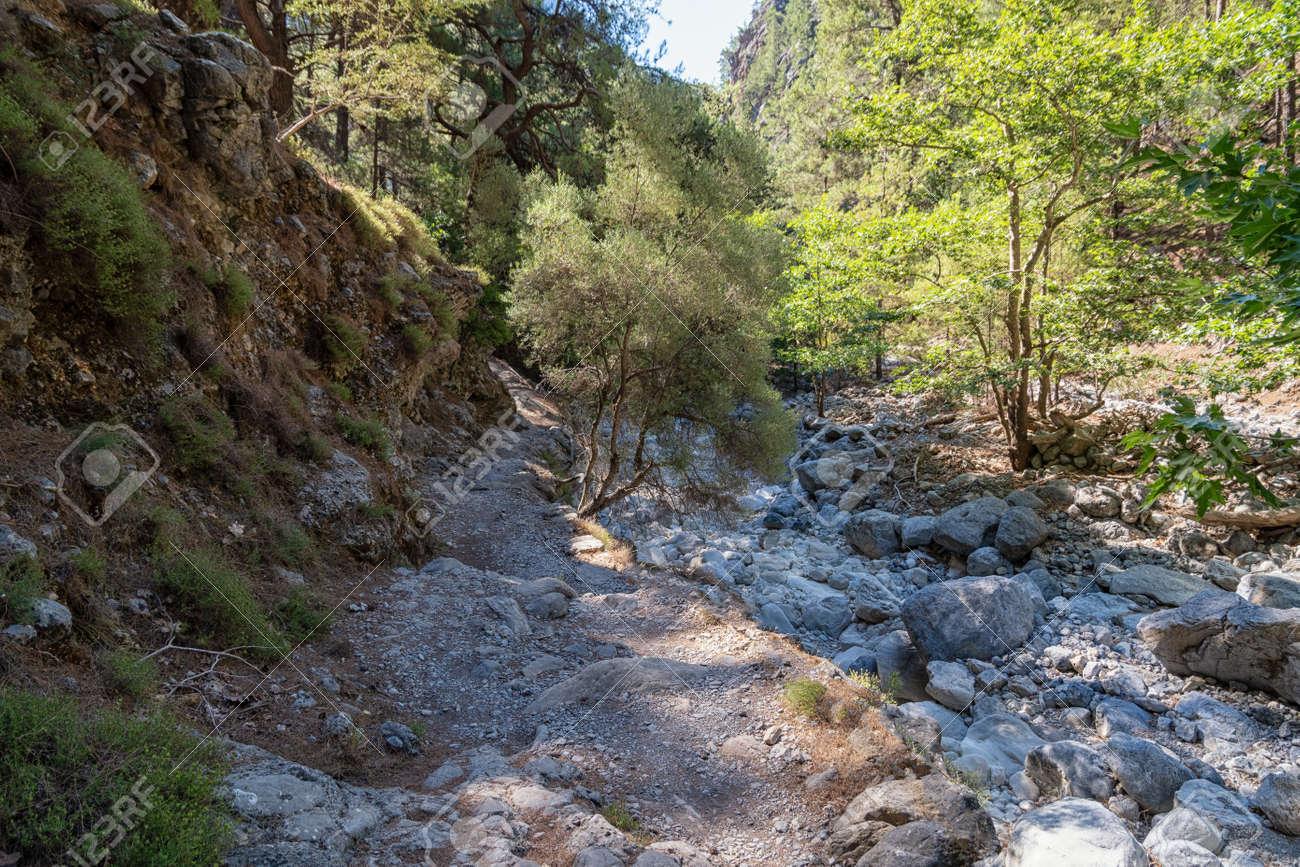 The Samaria Gorge on the Greek island - 171854766