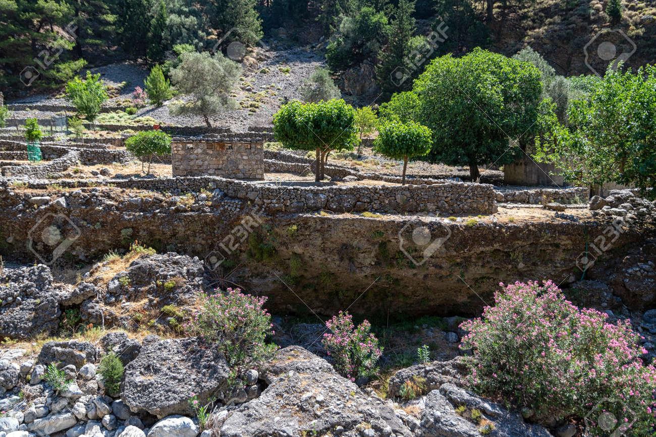 The Samaria Gorge on the Greek island - 171854768