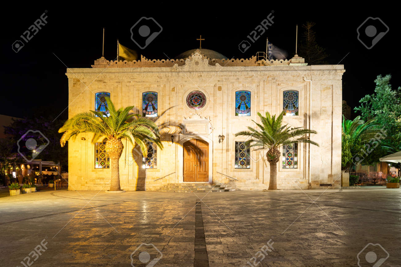 The church of Agios Titos in Heraklion on the island of Crete in Greece - 172813413