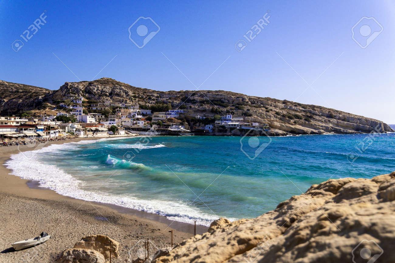 The Matala Caves on the Greek island of Crete - 172814112
