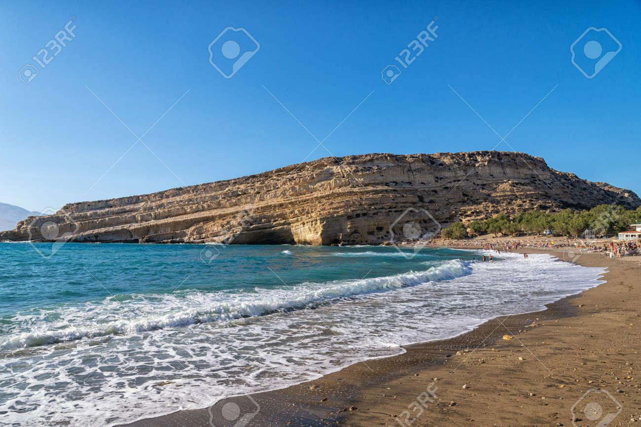 The Matala Caves on the Greek island of Crete - 172814101