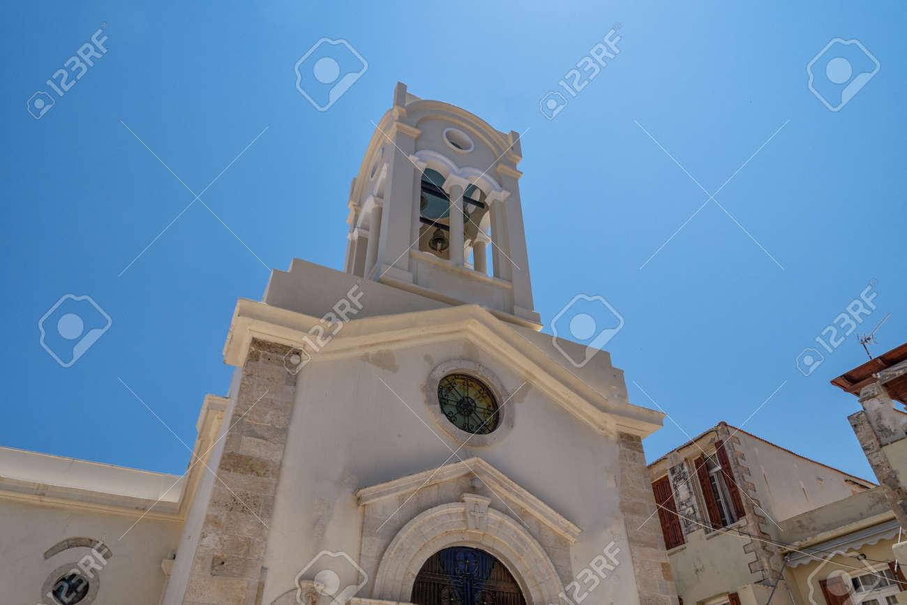 Church in Rethymno on the Greek island - 173647402
