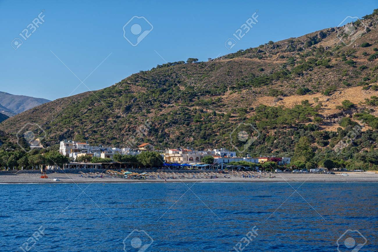 View of Sougia on the Greek island of Crete - 173515455