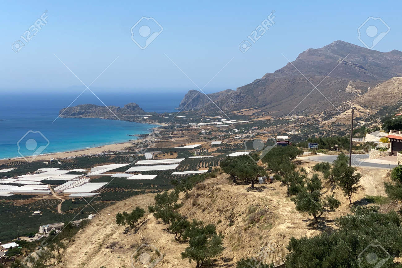 View over Falasarna on the Greek island of Crete - 173515376