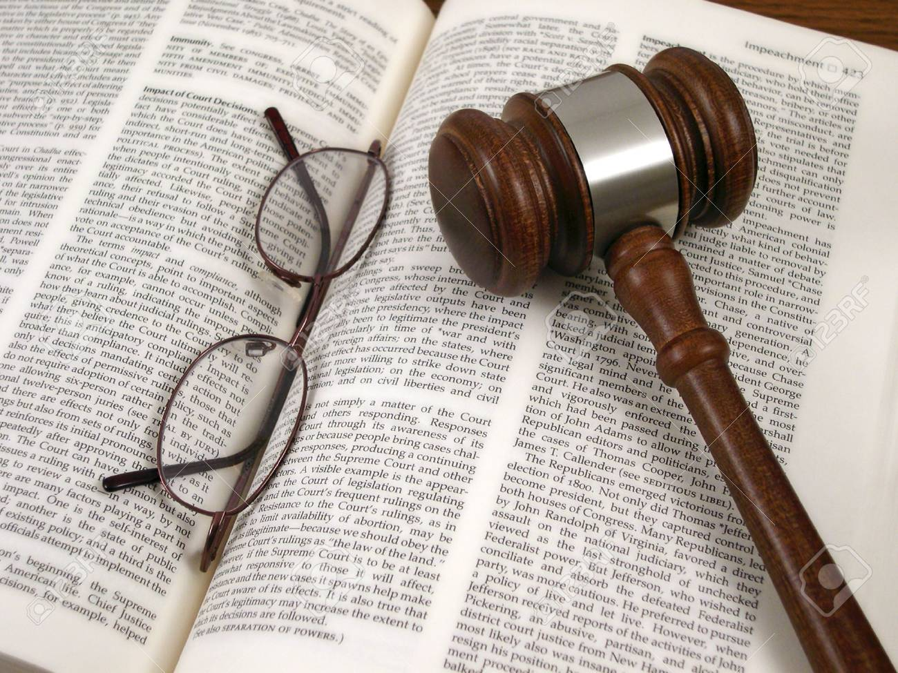 Gavel, Book, Glasses, & Scales Stock Photo - 564314