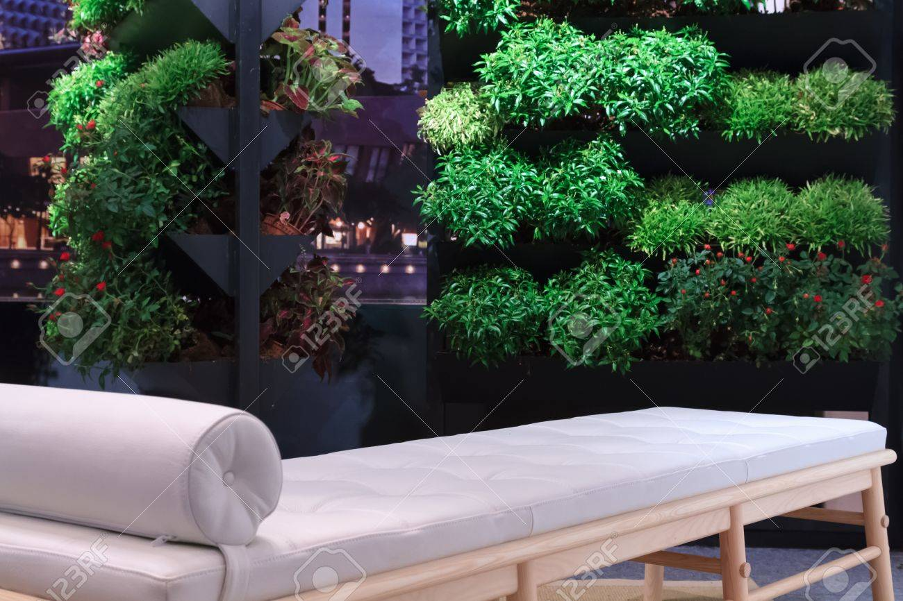 A Self Made Balcony Garden With A Massage Sofa To Relax On And Take In The