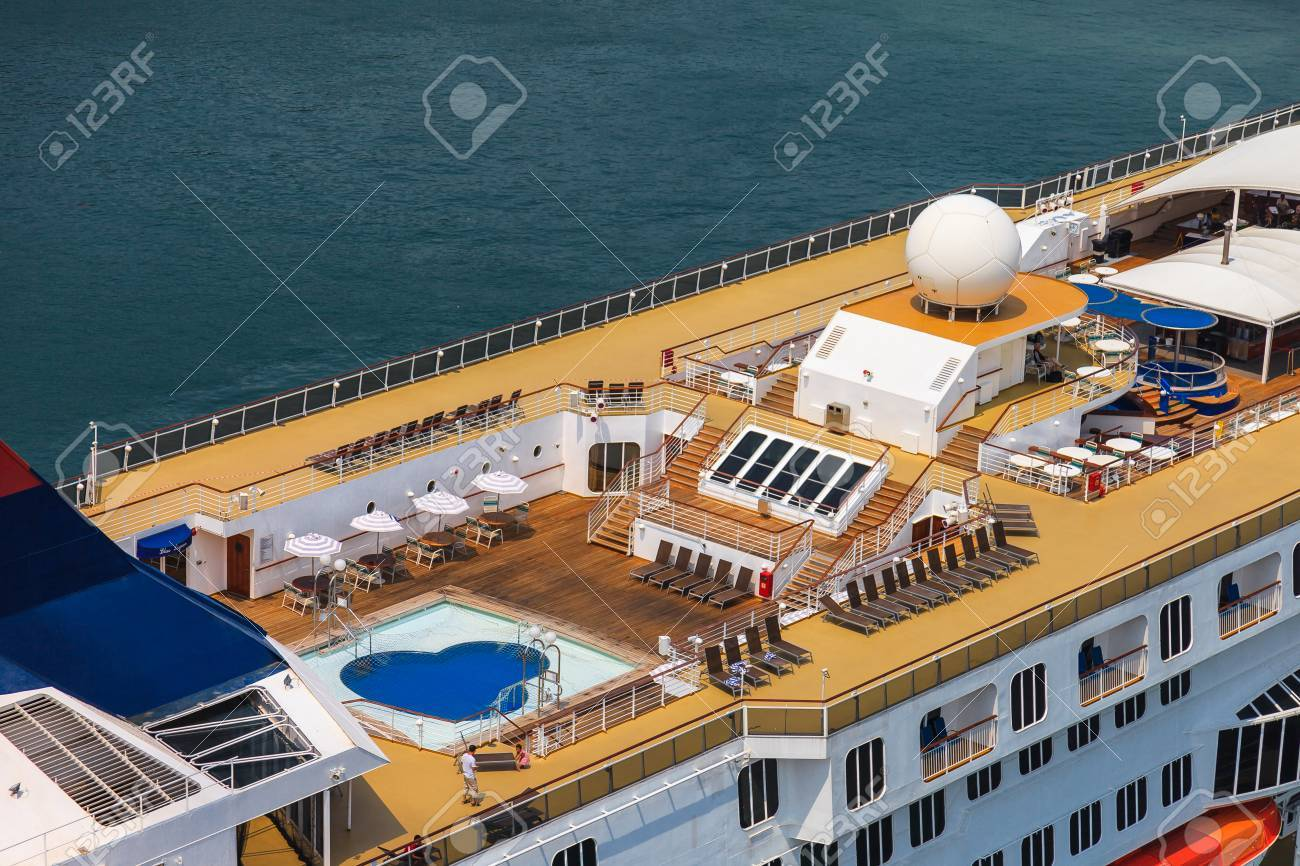 Top Side View Of A Cruise Ship Stock Photo Picture And Royalty