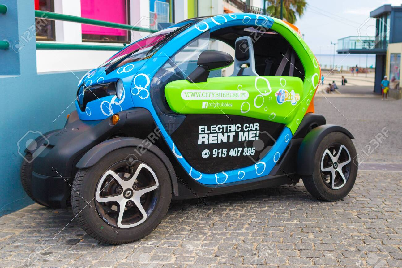 Porto Santo Portugal July 31 2018 Small Funny Electric Car Stock Photo Picture And Royalty Free Image Image 137284862