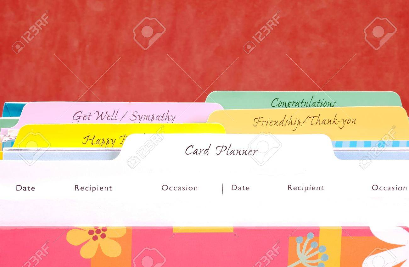 Greeting Card Organizer Stock Photo Picture And Royalty Free Image
