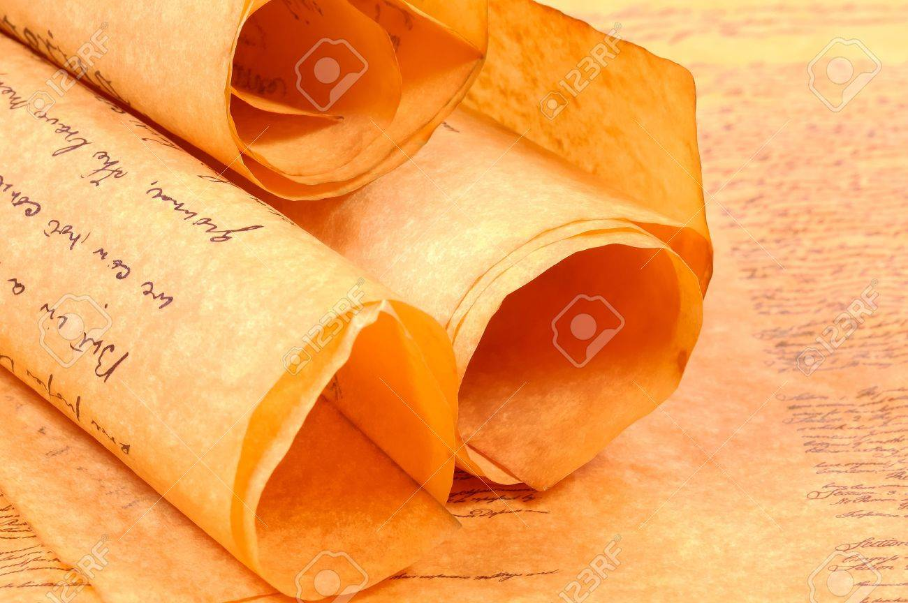 Various Rolled Up Parchments Stock Photo - 272311
