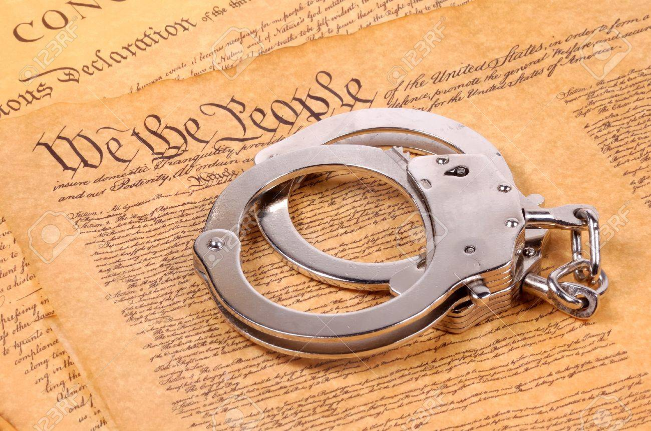 Bill of Rights and Hand Cuffs Stock Photo - 272295