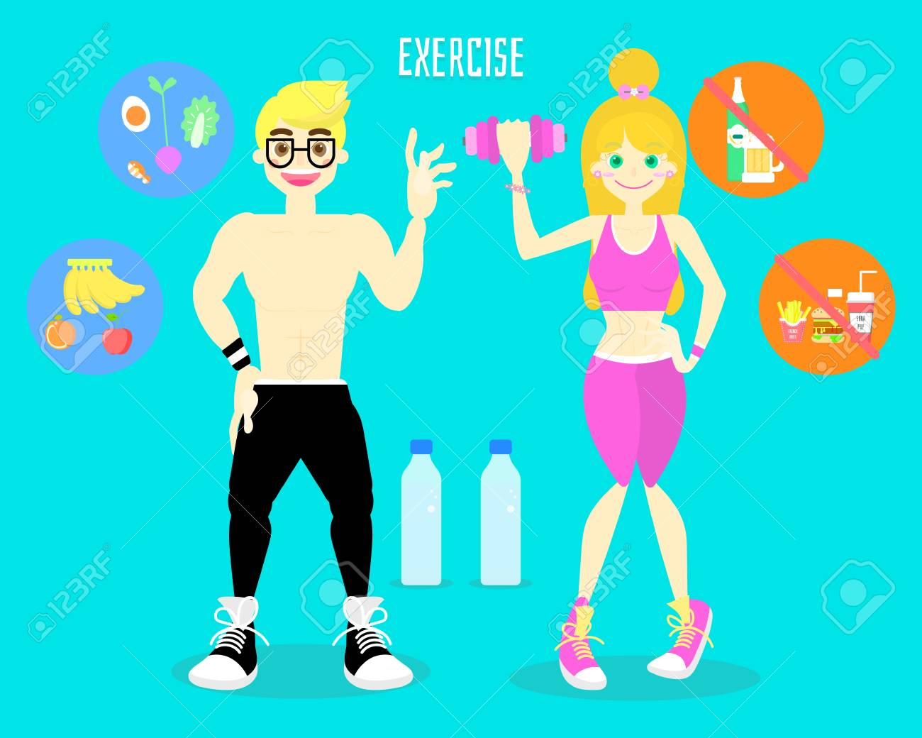 Activity Fitness Body Building Work Out Healthy Body In Shape Royalty Free Cliparts Vectors And Stock Illustration Image 115301510