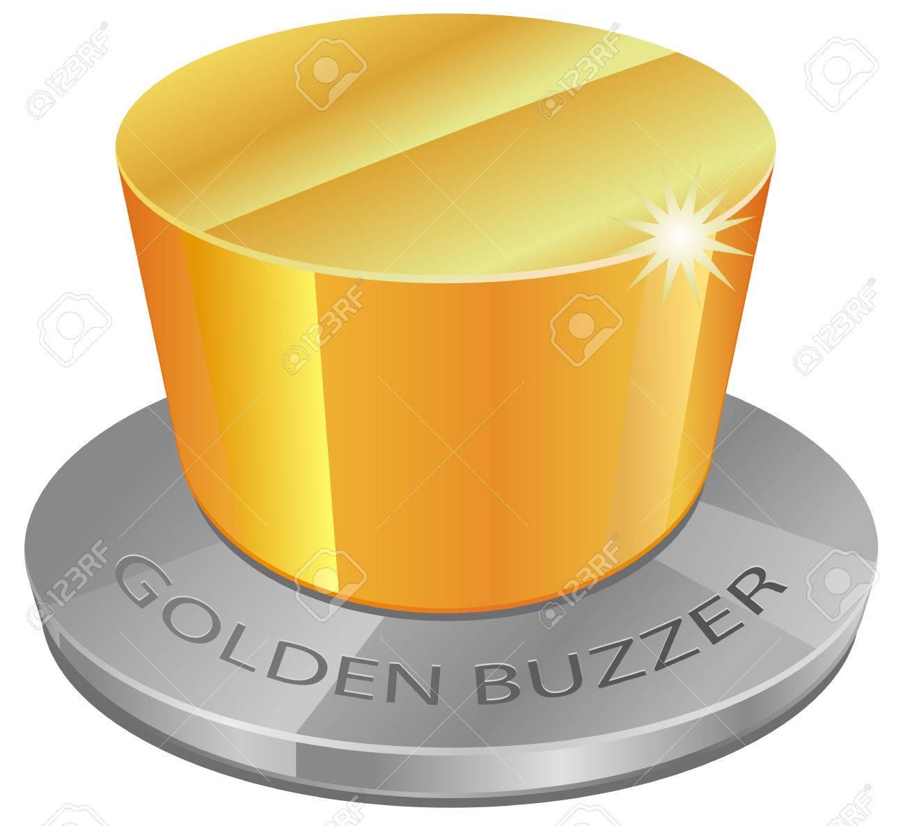 Golden Buzzer Icon Stock Vector