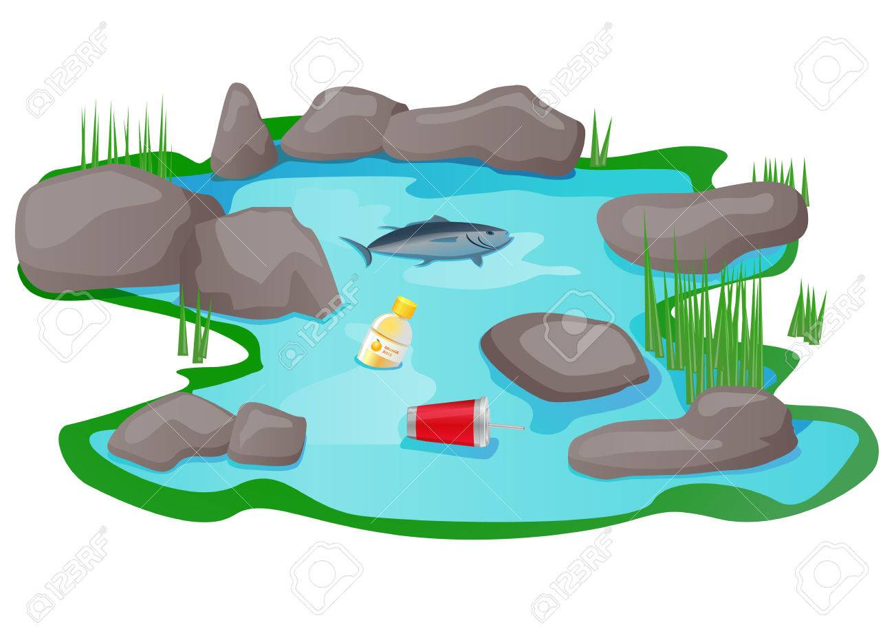 polluted lake or pond vector icon royalty free cliparts vectors rh 123rf com free clipart lake party free clip art lake scene