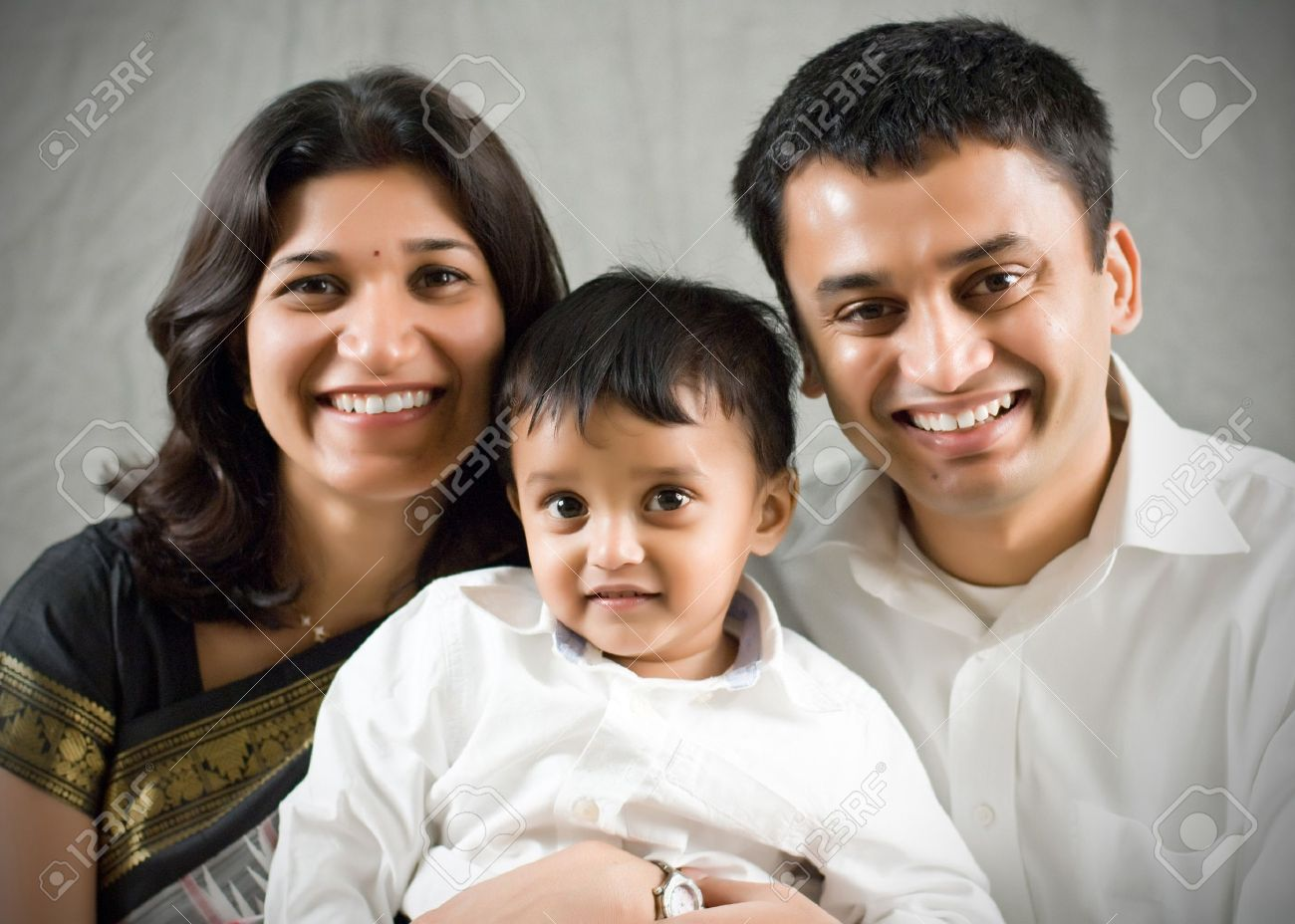 Happy Indian Family Banner Happy Family Portrait Indian