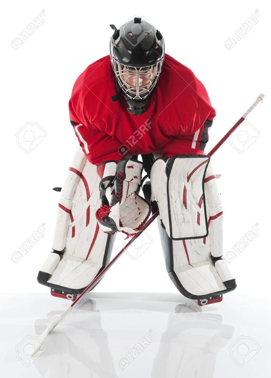 Ice Hockey Goalie Photo On White Background Stock Photo Picture
