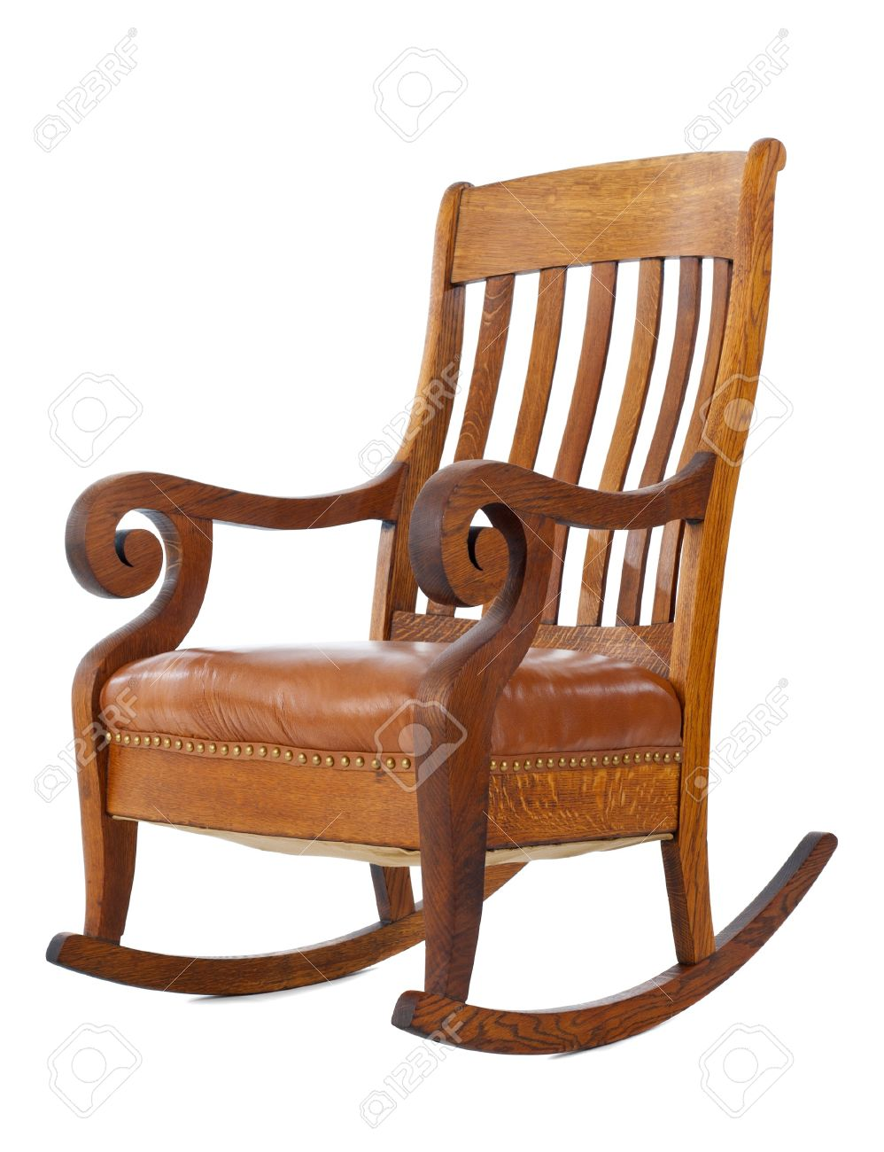 Antique wooden rocking chair isolated on white background Stock Photo -  7439599 - Antique Wooden Rocking Chair Isolated On White Background Stock