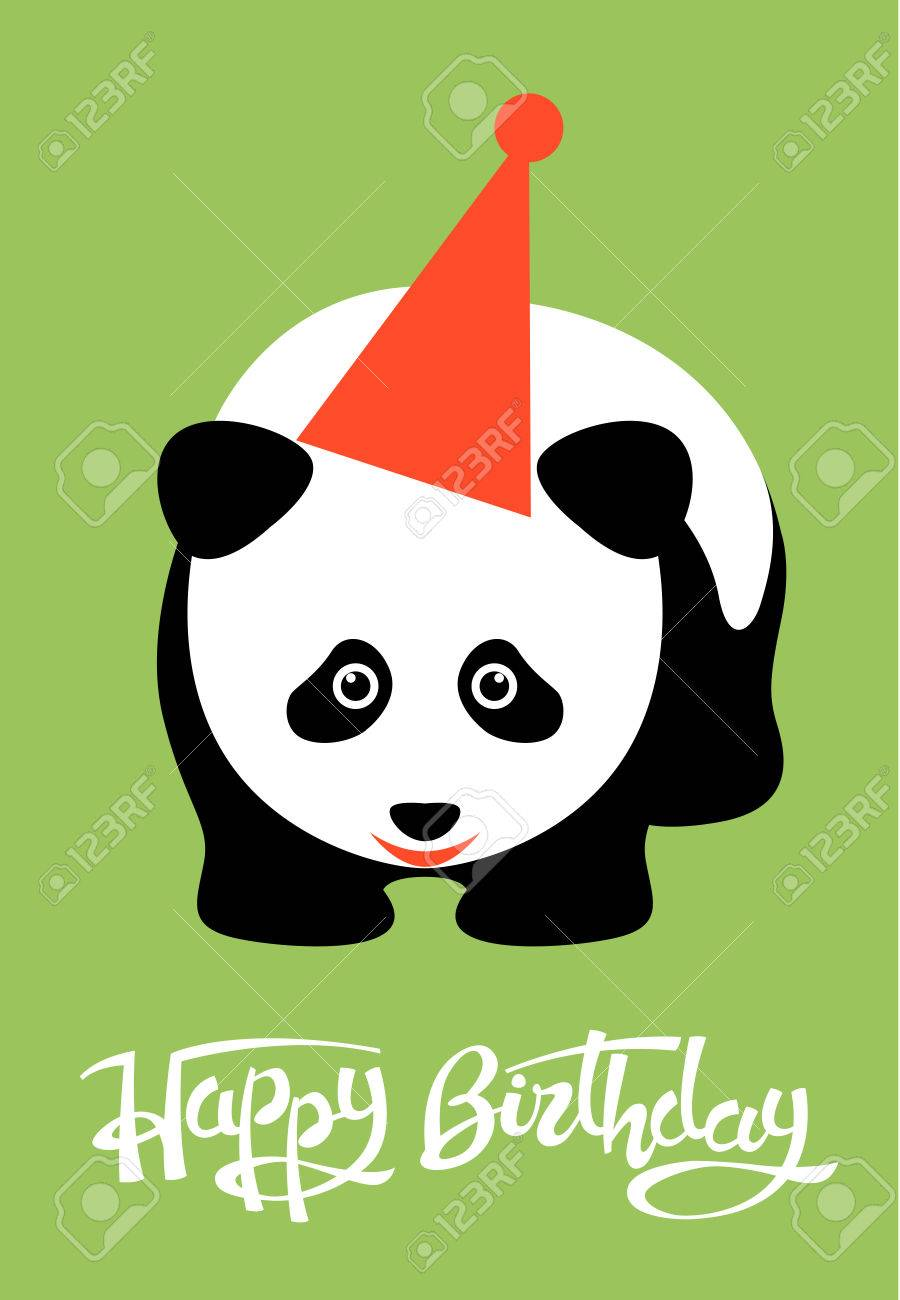 Greeting card happy birthday panda royalty free cliparts vectors greeting card happy birthday panda stock vector 82686946 bookmarktalkfo Choice Image
