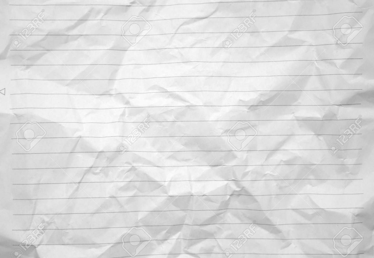 lined crumpled white paper background image photo stock photo