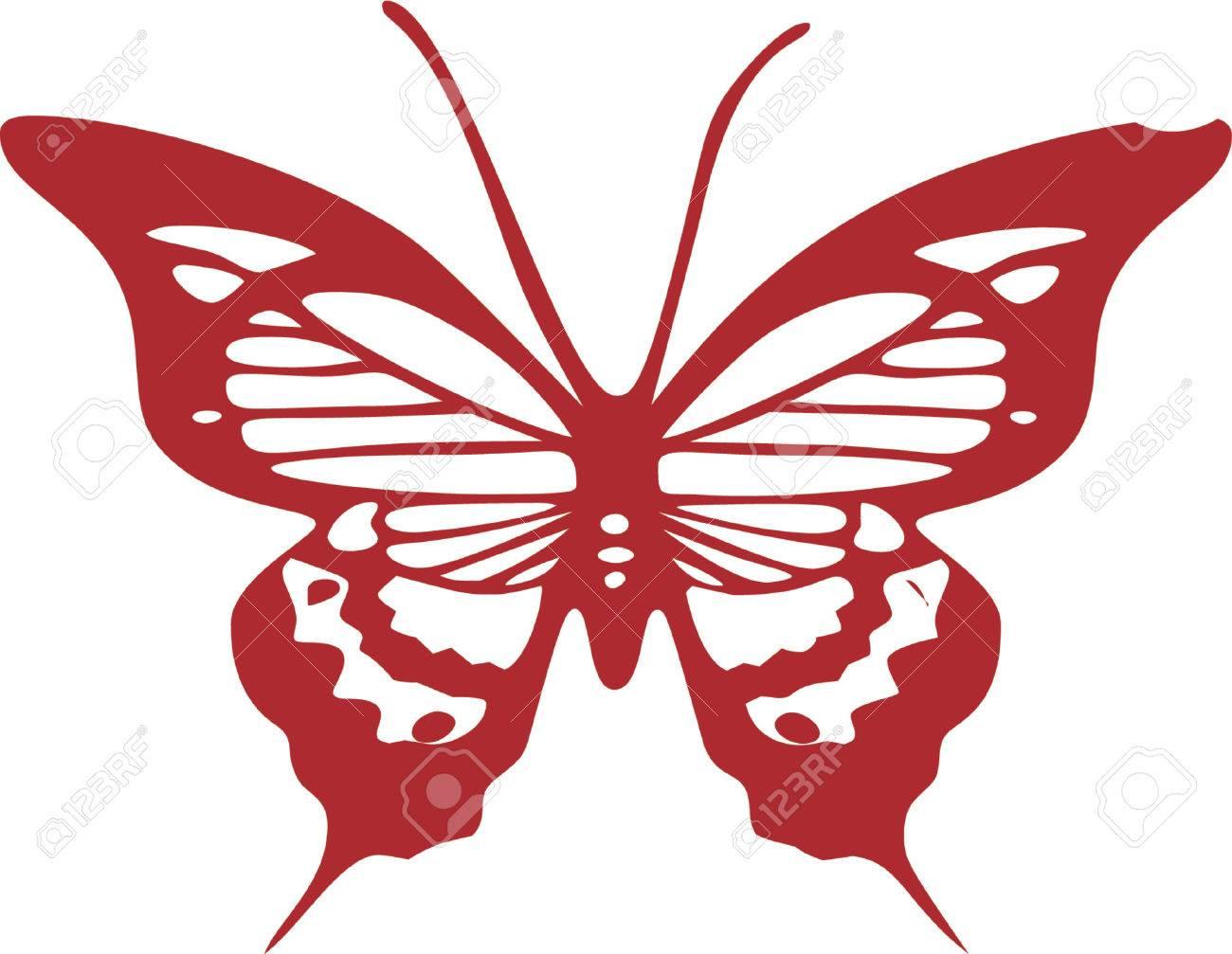 Butterfly clip art design illustration Stock Vector - 892475