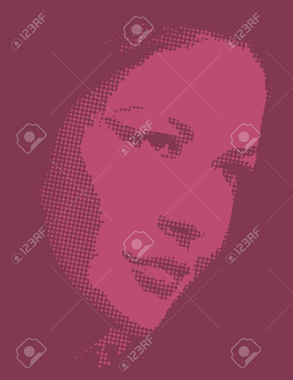 Woman face clip art design illustration for use in web and print Stock Photo - 885650