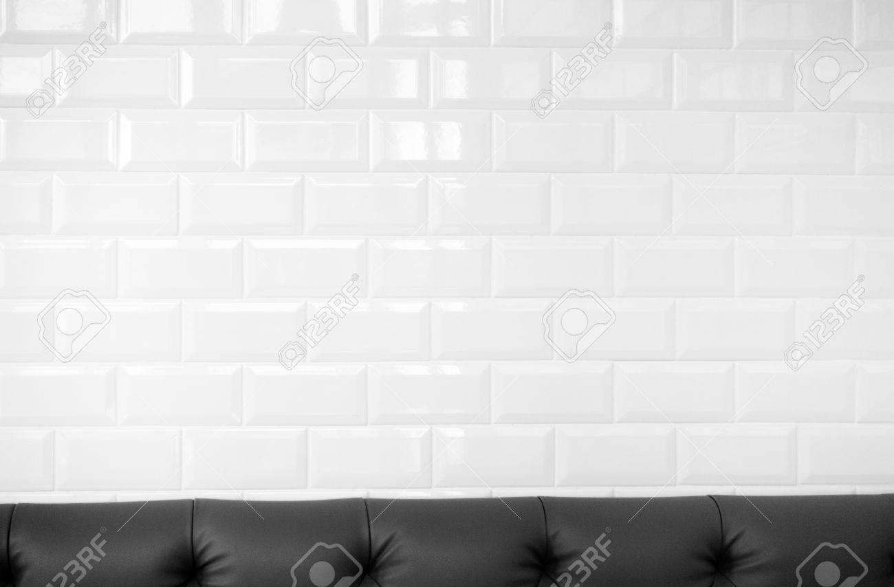 White Ceramic Brick Tile Wall Clean