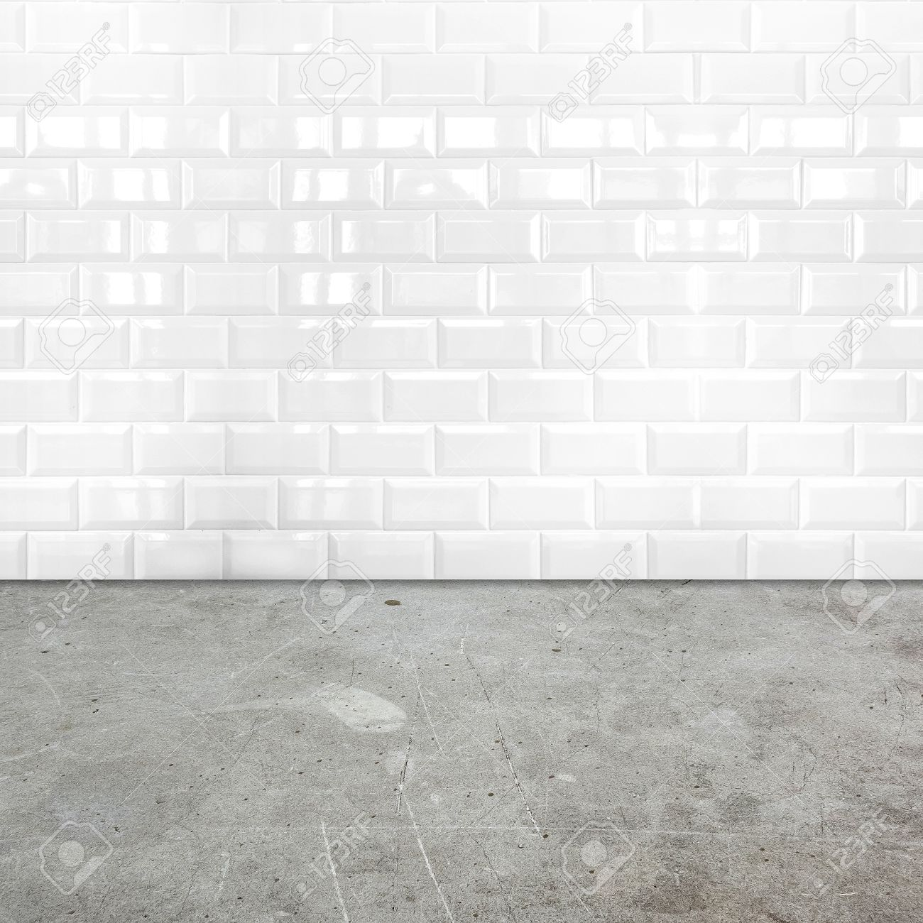 Room perspective white ceramic tile wall and cement ground stock room perspective white ceramic tile wall and cement ground stock photo 28341519 dailygadgetfo Choice Image