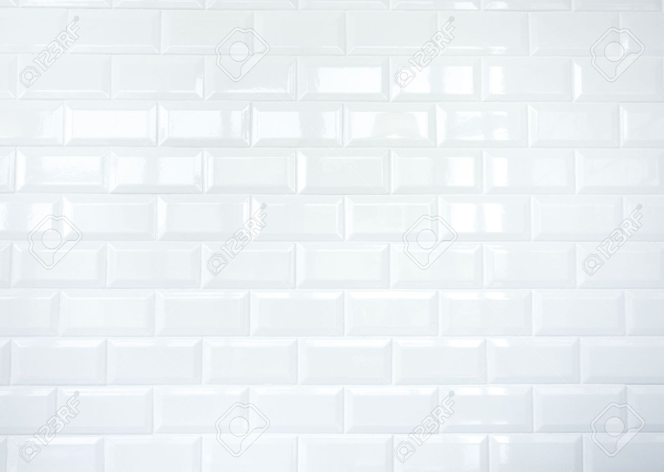 Superbe Stock Photo   White Ceramic Tile Brick Wall Texture