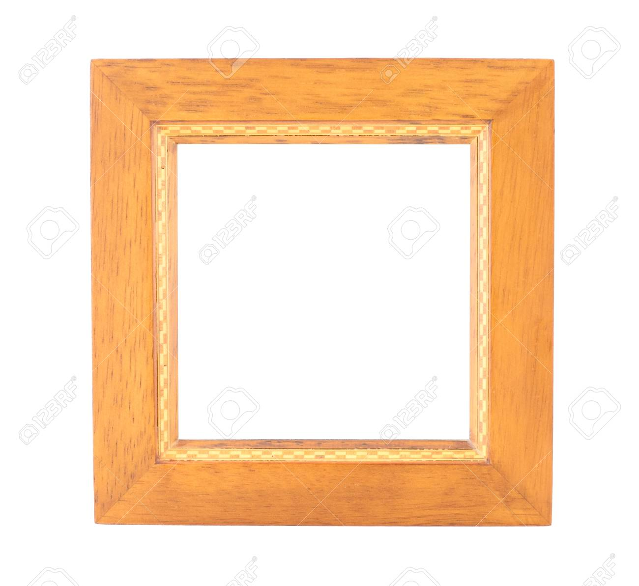 Blank Platz Holz-Rahmen Auf Weißem Hintergrund Isoliert, Schablone ...